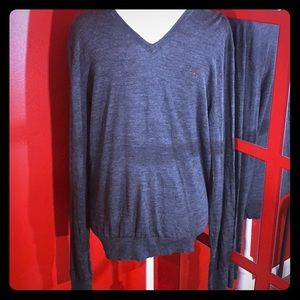 Polo V Neck Wool Sweater